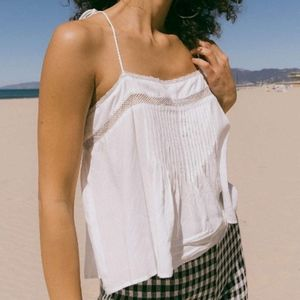 Urban Outfitters White Tie Shoulder Cami